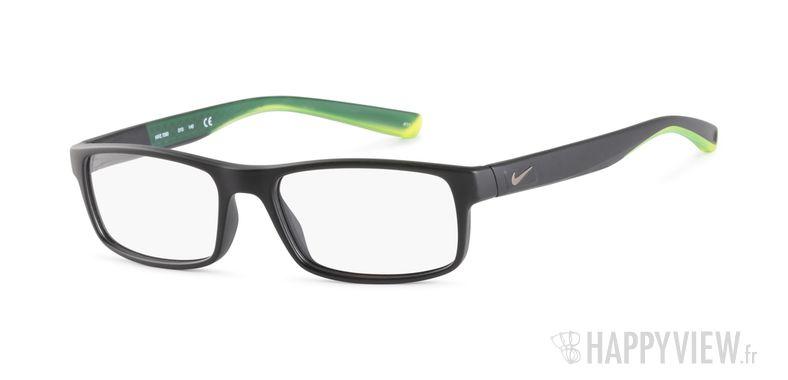 Lunettes de vue Nike 7090 noir/vert - vue de 3/4