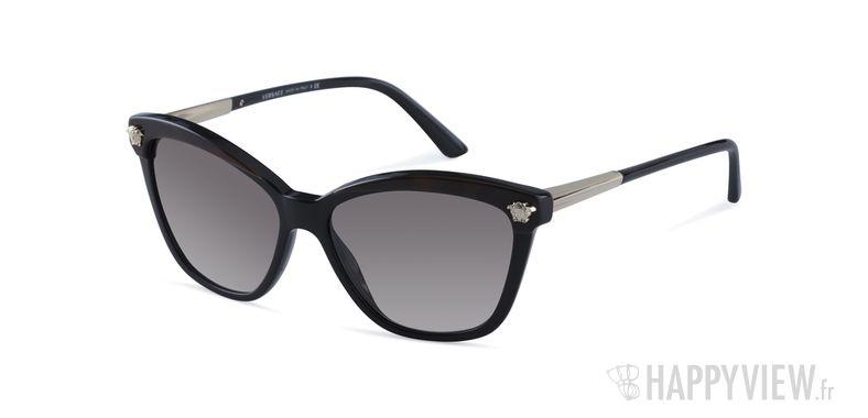 Lunettes de soleil Versace VE 4313 noir/écaille - vue de 3/4