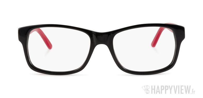 Lunettes de vue Happyview Deauville noir/rouge - vue de face