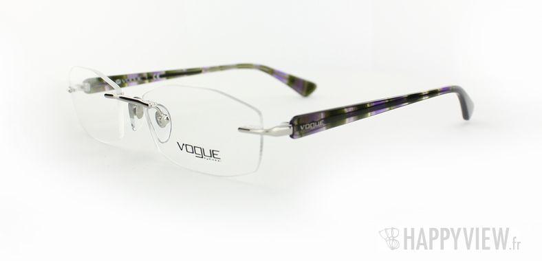 Lunettes de vue Vogue Vogue 3797 bleu/noir - vue de 3/4
