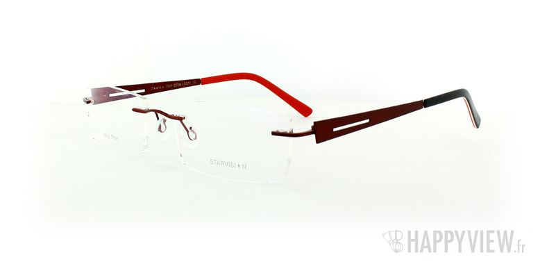 Lunettes de vue Starvision by Seiko Starvision 1006 Titane rouge - vue de 3/4