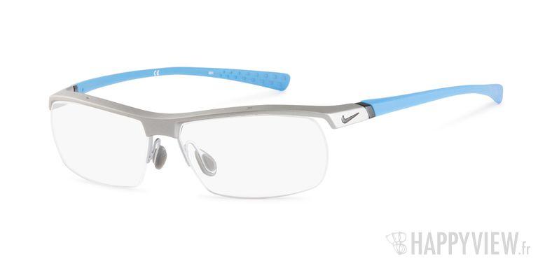 Lunettes de vue Nike 7071 bleu/gris - vue de 3/4