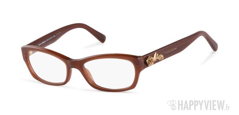 Lunettes de vue Dolce & Gabbana DG 3150 marron - vue de 3/4