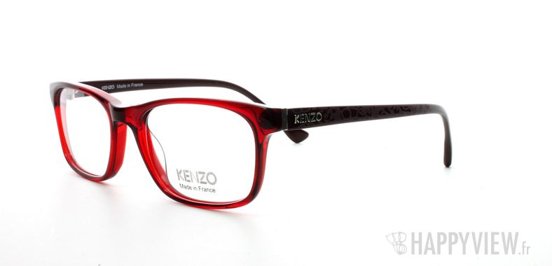 Lunettes de vue Kenzo Kenzo 2211 rouge - vue de 3/4