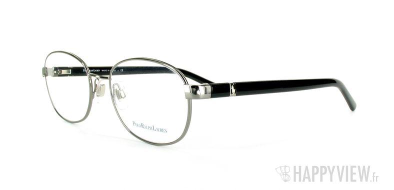 Lunettes de vue Polo Ralph Lauren Polo Ralph Lauren 1073 gris/noir - vue de 3/4