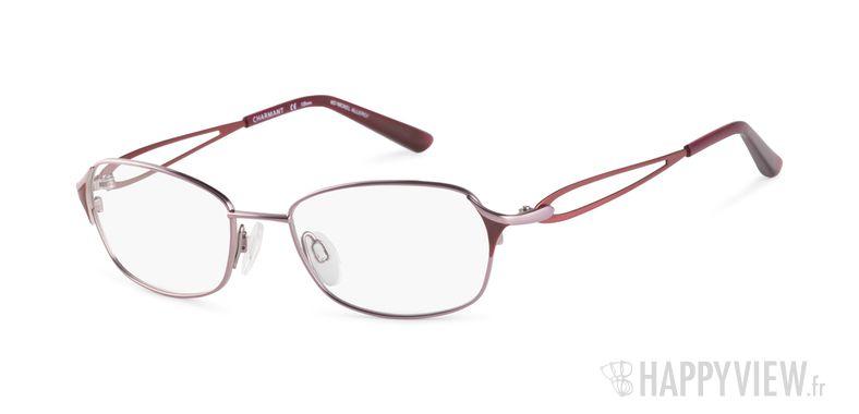 Lunettes de vue Charmant 12087 Titane rose/rouge - vue de 3/4