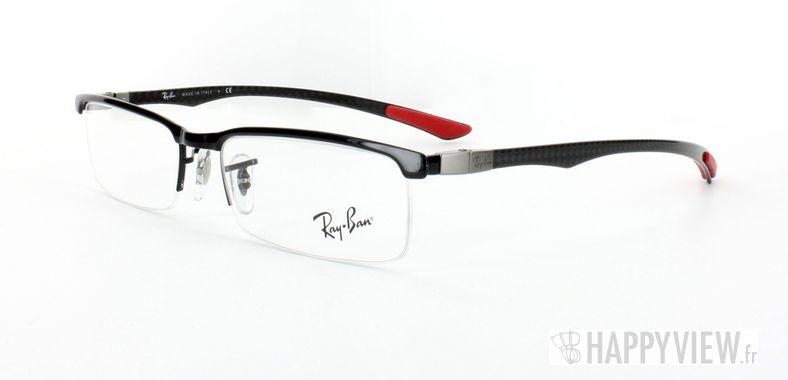Lunettes de vue Ray-Ban Ray-Ban RX8406 Carbone noir/rouge - vue de 3/4