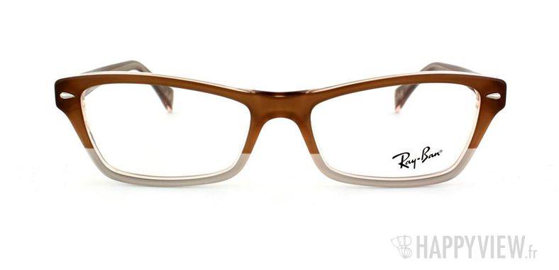 Lunettes de vue Ray-Ban Ray-Ban RX5256 marron/gris - vue de face