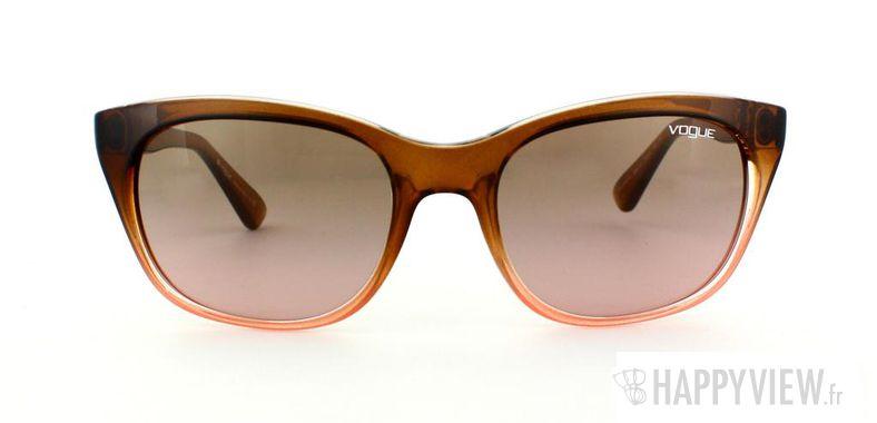 Lunettes de soleil Vogue Vogue 2743S marron/rose - vue de face