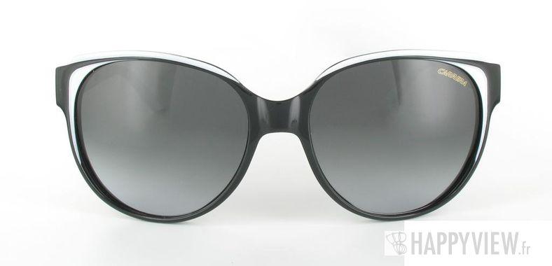 Lunettes de soleil Carrera Carrera Margot noir/blanc - vue de face