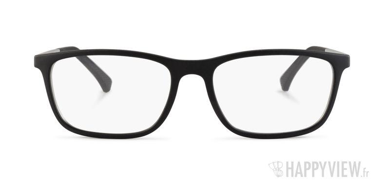 Lunettes de vue Emporio Armani EA 3069 noir/argenté - vue de face