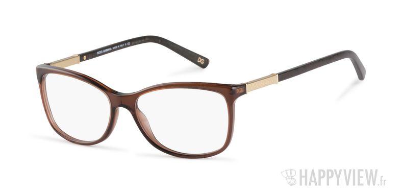 Lunettes de vue Dolce & Gabbana DG 3107 marron - vue de 3/4
