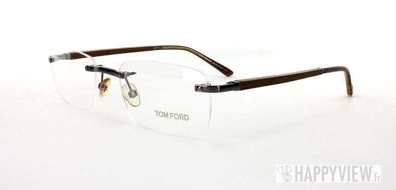 Lunettes de vue Tom Ford Tom Ford 5080 Bois marron - vue de 3/4