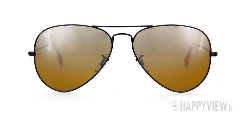 Lunettes de soleil Ray-Ban Ray-Ban Aviator noir/marron - vue de face
