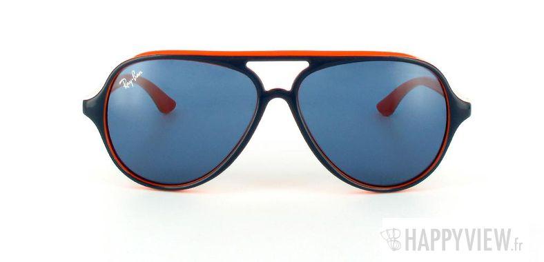 Lunettes de soleil Ray-Ban Ray-Ban Junior Cats 5000 RJ9049S bleu/orange - vue de face