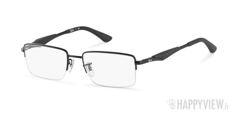 Lunettes de vue Ray-Ban RX 6285 noir - vue de 3/4
