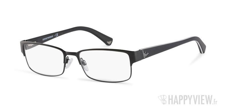 Lunettes de vue Emporio Armani EA 1036 noir/blanc - vue de 3/4