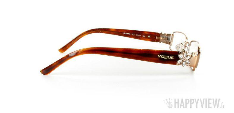 Lunettes de vue Vogue Vogue 3688 marron - vue de côté