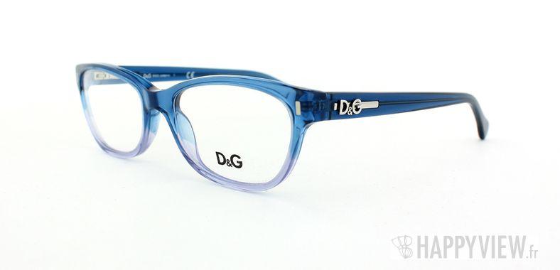 Lunettes de vue Dolce & Gabbana D&G 1205 bleu/bleu - vue de 3/4