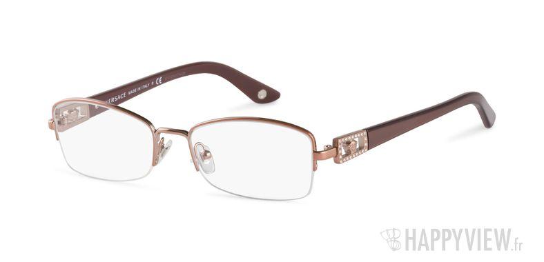Lunettes de vue Versace VE 1206B doré - vue de 3/4