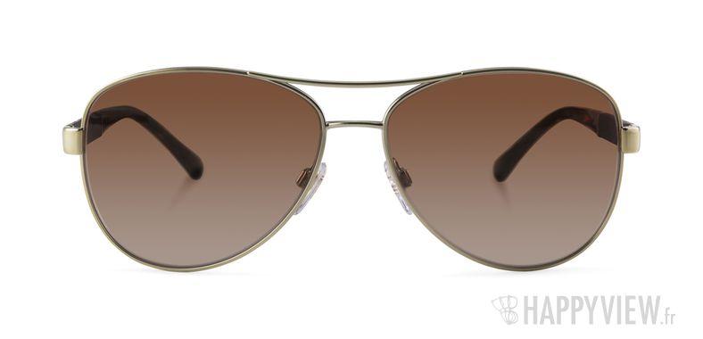 Lunettes de soleil Burberry BE 3080 doré - vue de face