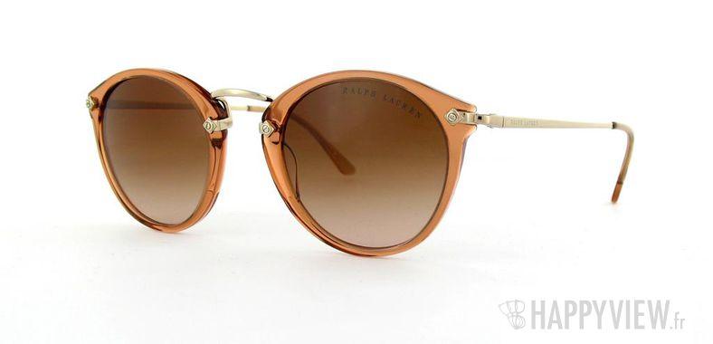 Lunettes de soleil Ralph Lauren Ralph Lauren 8086 marron/doré - vue de 3/4