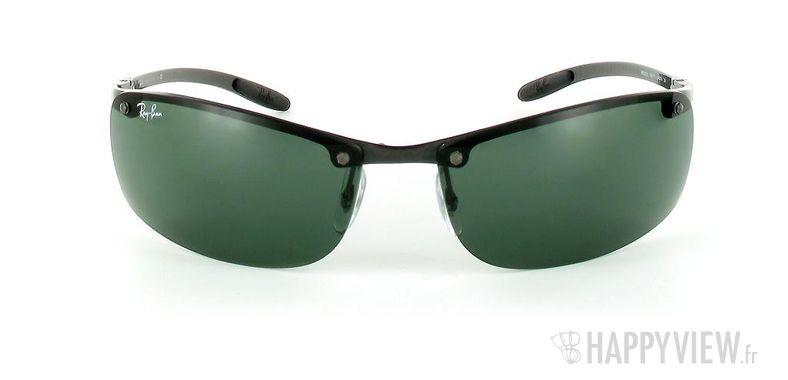 Lunettes de soleil Ray-Ban Ray-Ban Tech RB8305 noir/vert - vue de face