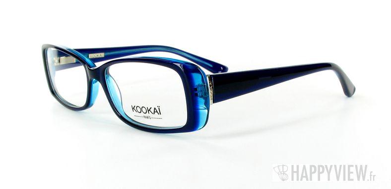 Lunettes de vue Kookaï Kookai 103 bleu/noir - vue de 3/4