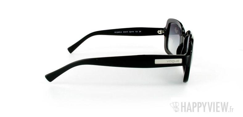 Lunettes de soleil Vogue Vogue 2605S Large noir - vue de côté
