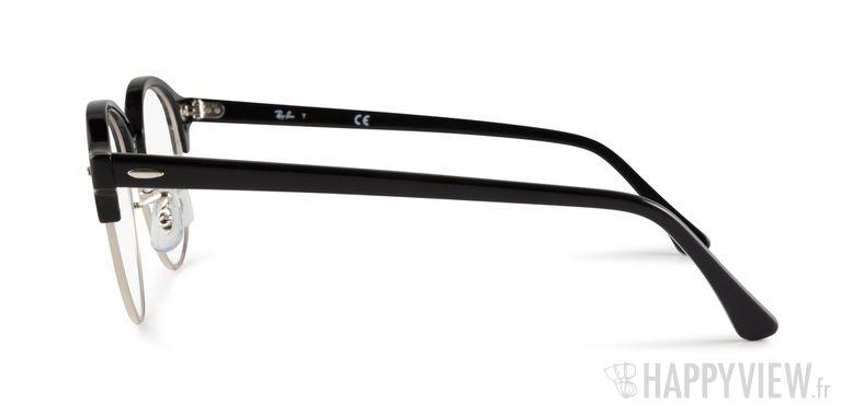 Lunettes de vue Ray-Ban RX 4246 Clubround noir/argenté - vue de côté