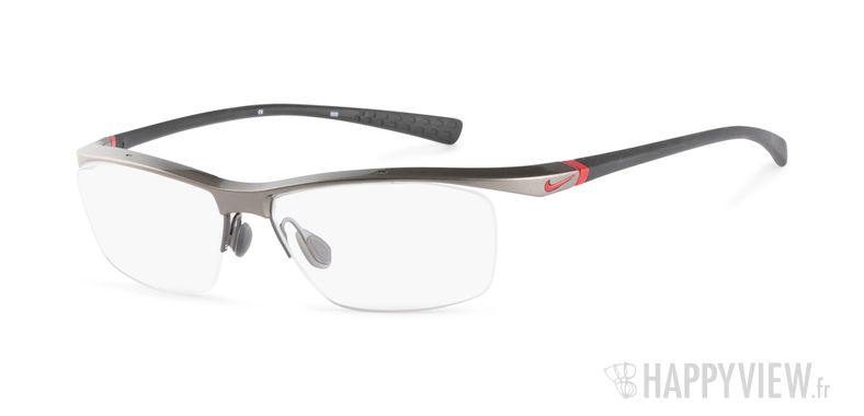 Lunettes de vue Nike 7070 gris/rouge - vue de 3/4