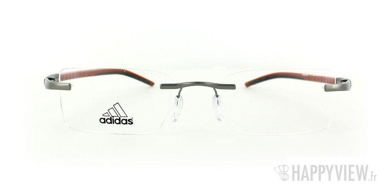Lunettes de vue Adidas Adidas A636 gris/rouge - vue de face