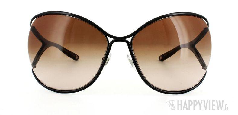 Lunettes de soleil Versace Versace VE2111 noir - vue de face