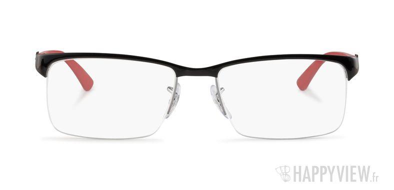 Lunettes de vue Ray-Ban RX 8411 Carbone noir/rouge - vue de face