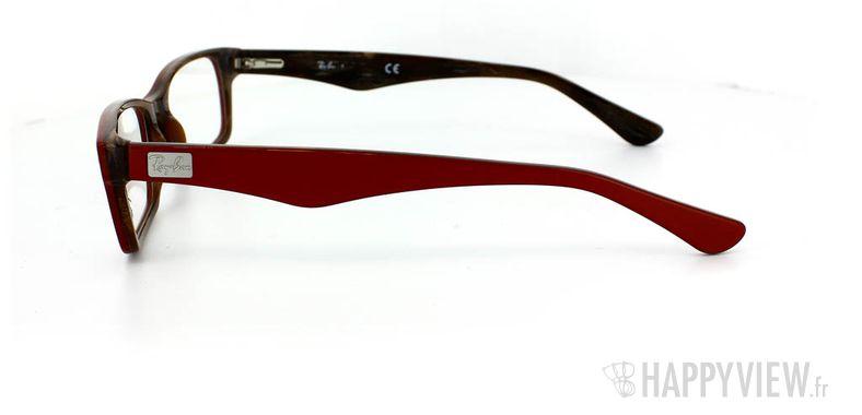Lunettes de vue Ray-Ban Ray-Ban RX5206 rouge - vue de côté