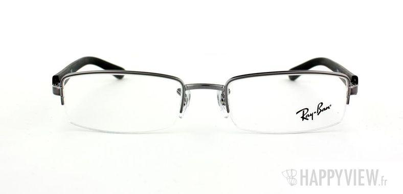 Lunettes de vue Ray-Ban Ray-Ban RX6232 argenté/noir - vue de face