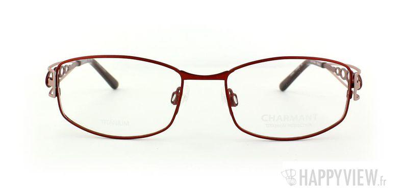 Lunettes de vue Charmant Charmant 10895 Titane rouge/rose - vue de face