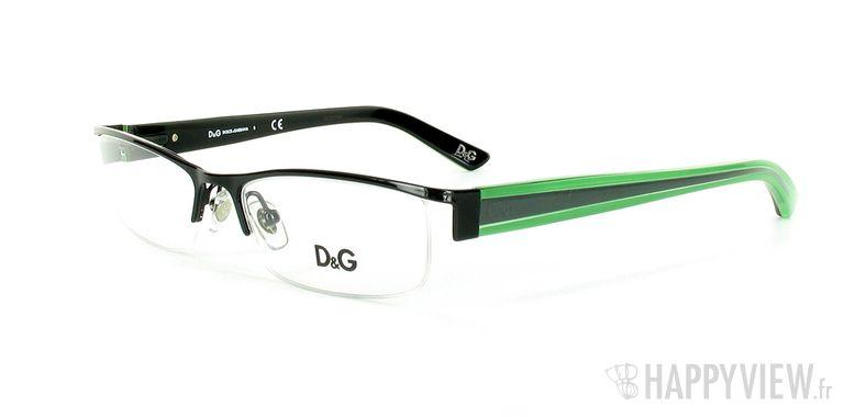 Lunettes de vue Dolce & Gabbana D&G 5069 noir/vert - vue de 3/4
