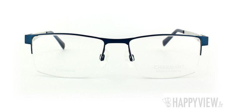 Lunettes de vue Charmant Charmant 10765 Titane bleu/gris - vue de face