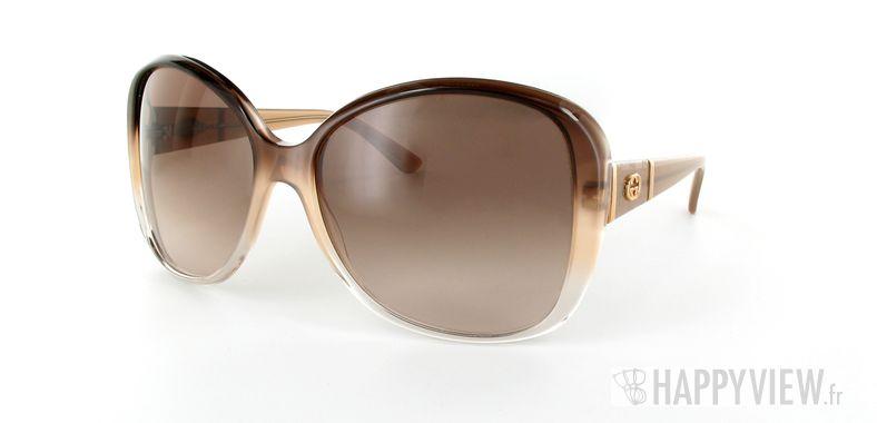 Lunettes de soleil Gucci Gucci 3126 marron/marron - vue de 3/4