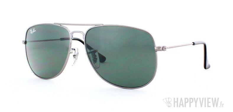 Lunettes de soleil Ray-Ban Ray-Ban Junior 9532S Extra Small gris/vert - vue de 3/4