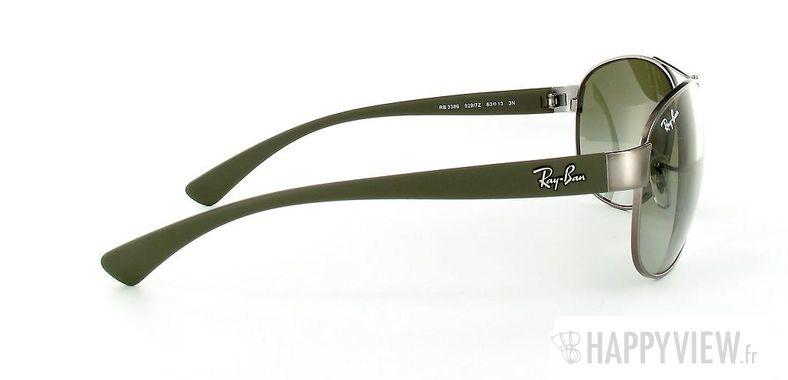 Lunettes de soleil Ray-Ban Ray-Ban RB3386 vert/argenté - vue de côté