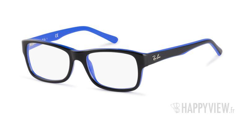 Lunettes de vue Ray-Ban RX 5268 bleu/noir - vue de 3/4