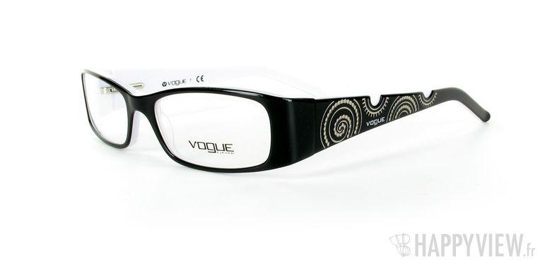 Lunettes de vue Vogue Vogue 2593 noir/blanc - vue de 3/4