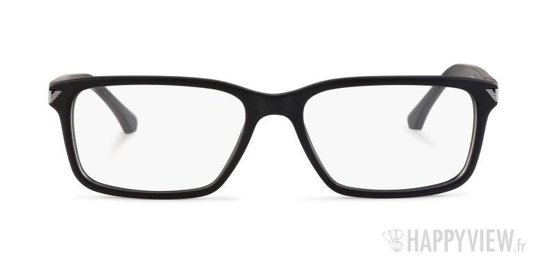 Lunettes de vue Emporio Armani EA 3072 noir - vue de face