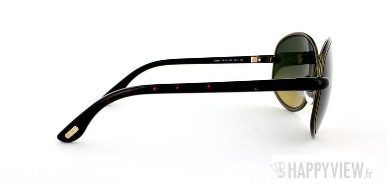 Lunettes de soleil Tom Ford Tom Ford Brigitte marron/écaille - vue de côté
