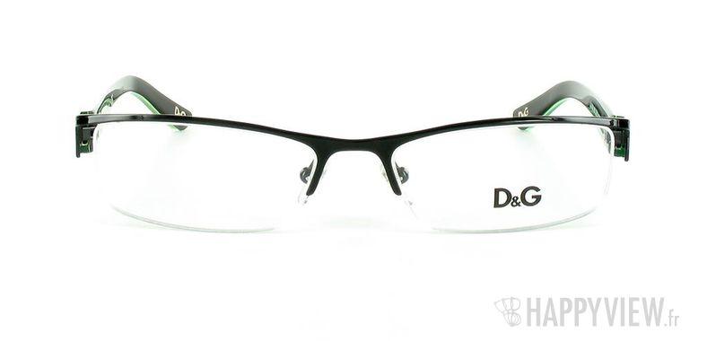 Lunettes de vue Dolce & Gabbana D&G 5069 noir/vert - vue de face