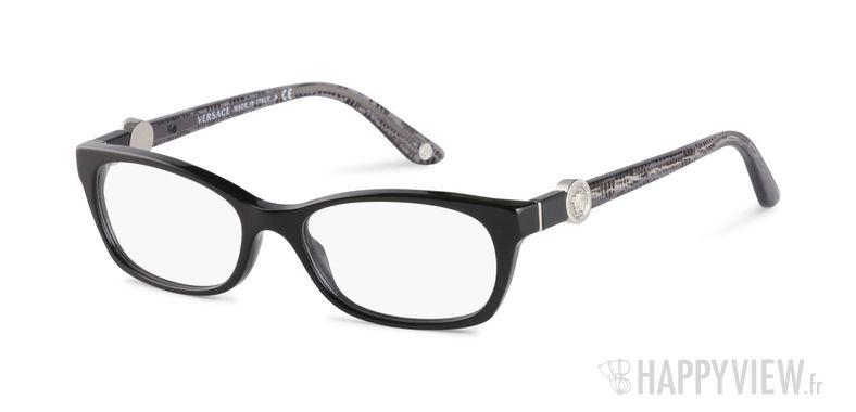 Lunettes de vue Versace VE 3164 noir - vue de 3/4