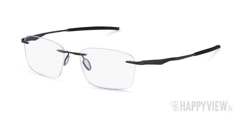 Lunettes de vue Oakley Wingfold Titane gris - vue de 3/4