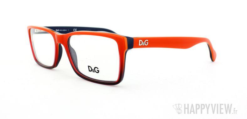 Lunettes de vue Dolce & Gabbana D&G 1233 rouge/bleu - vue de 3/4